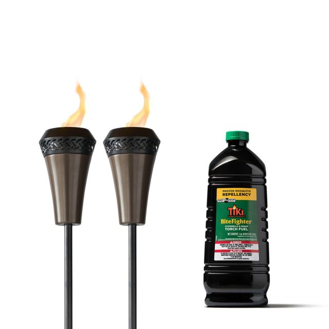 ISLAND KING TORCHES - 2 PACK + 100-OUNCE BITEFIGHTER TORCH FUEL