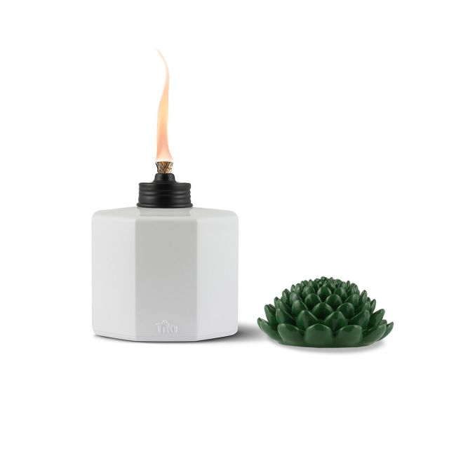 SUCCULENT GLASS TABLE TORCHES - 3 PACK