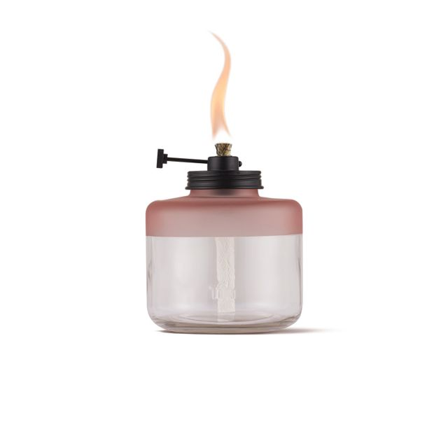 ADJUSTABLE FLAME TABLE TORCH IN PINK FROST