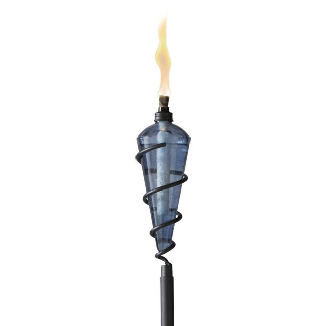 SWIRL GLASS TORCH IN BLUE