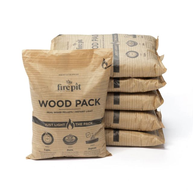 tiki brand wood packs six stacked