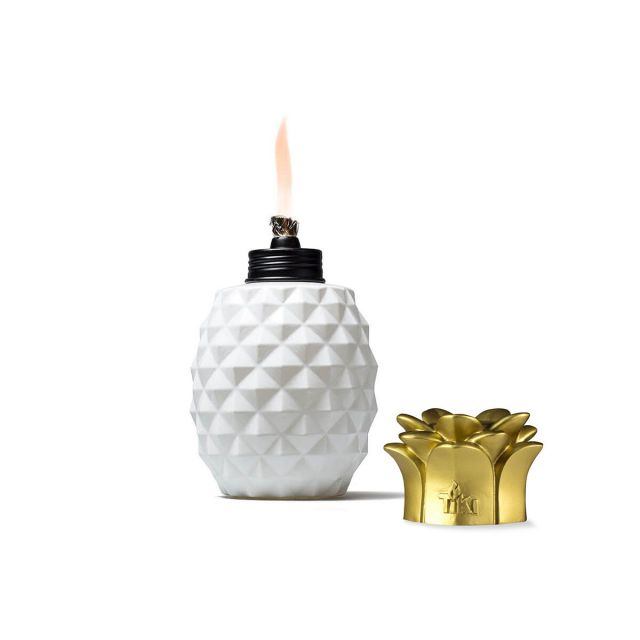 PINEAPPLE PARADISE GLASS TABLE TORCHES - 3 PACK