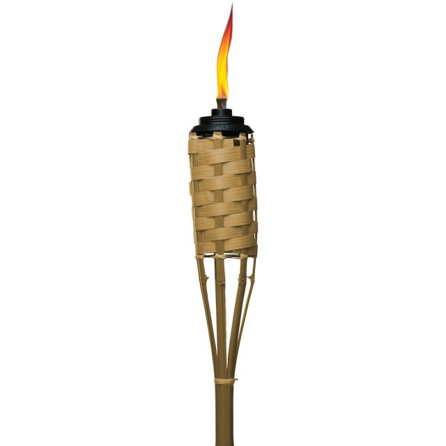 WEATHER RESISTANT LUAU BAMBOO TORCHES - 4 PACK