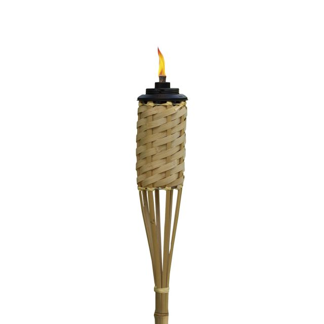 WEATHER RESISTANT HOMESPUN BAMBOO TORCHES - 12 PACK