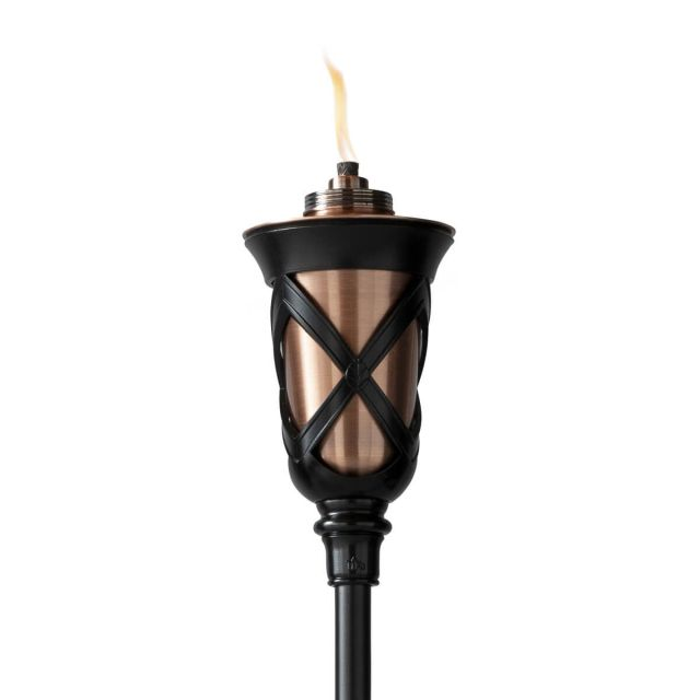 province tiki torch up close white background