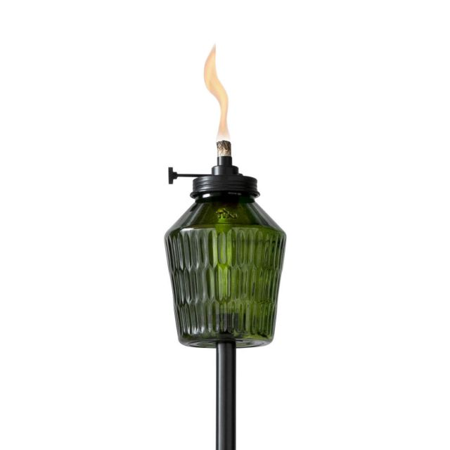 ADJUSTABLE FLAME PENTA VOTIVE TORCH IN GREEN
