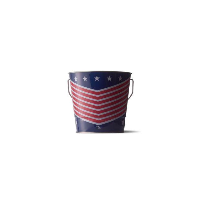 BITEFIGHTER USA FLAG CITRONELLA WAX BUCKET