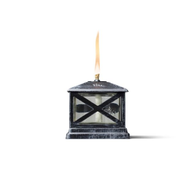 lantern table tiki torch up close white background