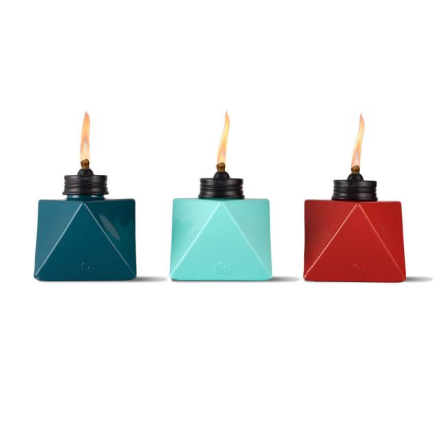 PRISM GLASS TABLE TORCHES - 3 PACK