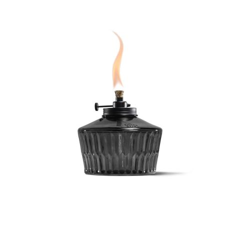 ADJUSTABLE FLAME PENTA VOTIVE TABLE TORCH IN GRAY