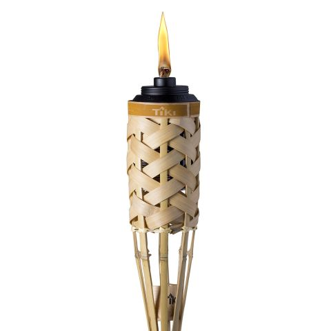 WEATHER RESISTANT WOVEN BAMBOO TORCH