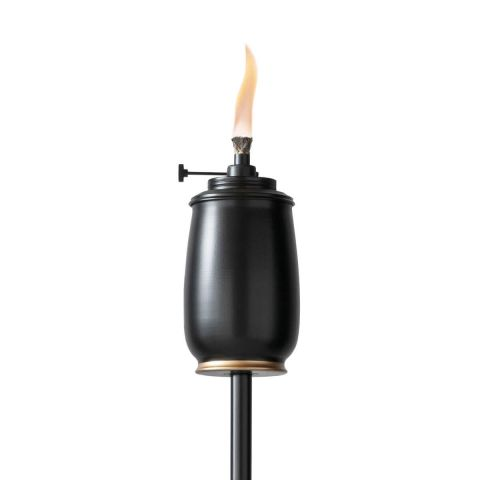 ADJUSTABLE FLAME METAL TORCH IN BLACK AND GOLD