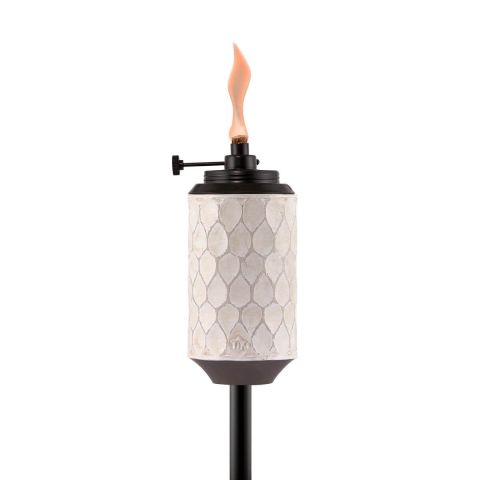 ADJUSTABLE FLAME FARMHOUSE TORCH IN WHITE