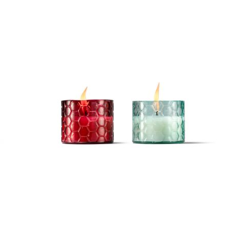 HONEYCOMB GLASS CITRONELLA WAX CANDLE