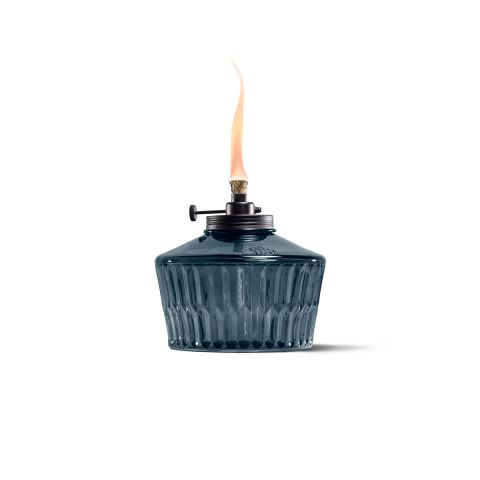 ADJUSTABLE FLAME PENTA VOTIVE TABLE TORCH IN BLUE