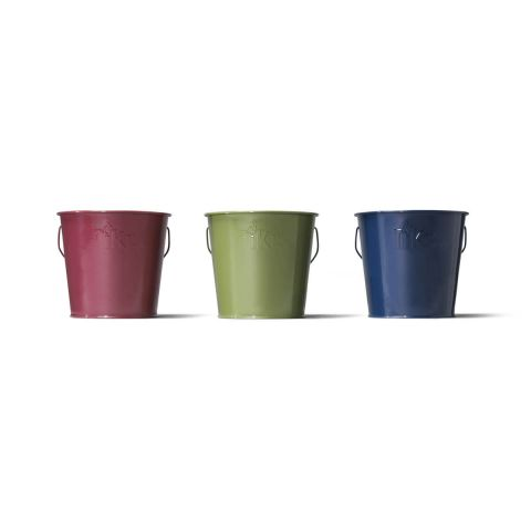 LAVISH WOODLAND CITRONELLA WAX BUCKETS - 3 PACK