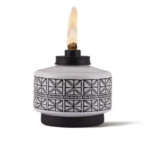 FOLKLORE GLASS TABLE TORCH - 2 PACK