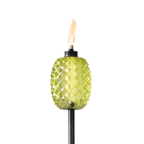 ALOHA PINEAPPLE TORCHES IN GREEN - 2 PACK