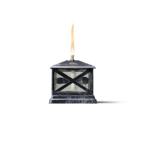 PETITE LANTERN METAL TABLE TORCHES IN BLACK - 2 PACK