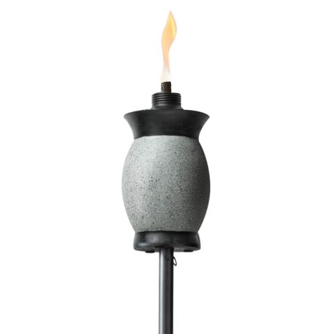 4-IN-1 STONE JAR TORCHES IN GRAY - 2 PACK