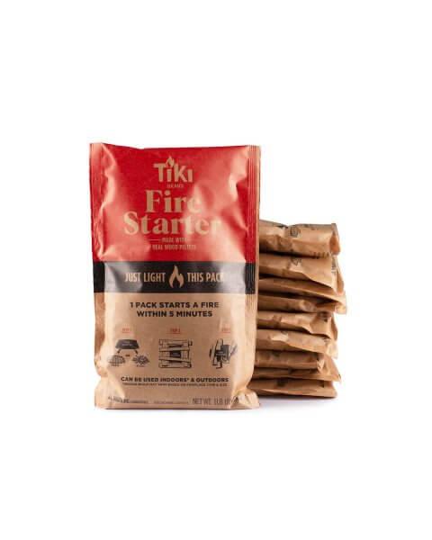 stack of 10 fire starter packs