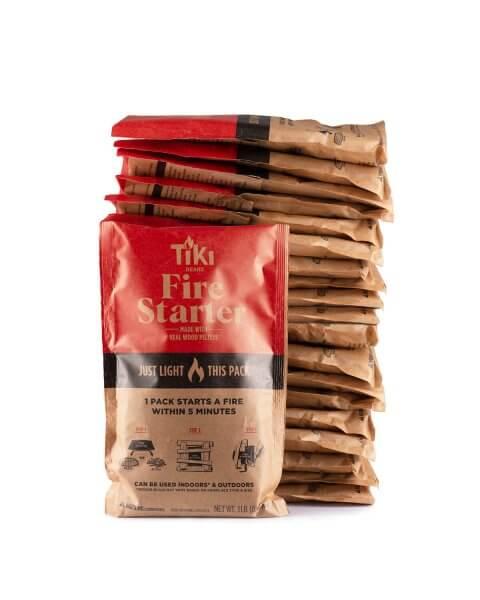 stack of 20 fire starter packs