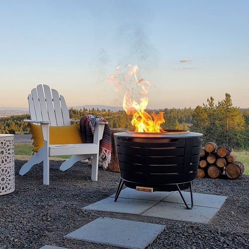 fire pit on mountaintop